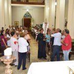 Recepção da imagem do Senhor dos Aflitos para a abertura dos 06 dias de Oração pedindo chuva