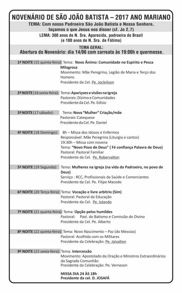SÃO JOÃO BATISTA_cartaz diocese de barreiras_2017 02